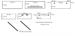 misure del barchino divergente o carroccio