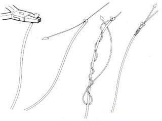 Nodi per shock leader Competition knot.