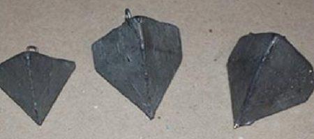 Stampo per piombi piramidali surf casting Fai da te