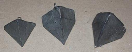 Stampo per piombi piramidali