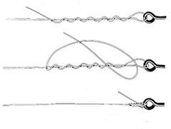 nodi per ami Hook knot