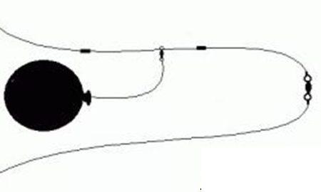 pesca col palloncino al pesce serra dalla spiaggia